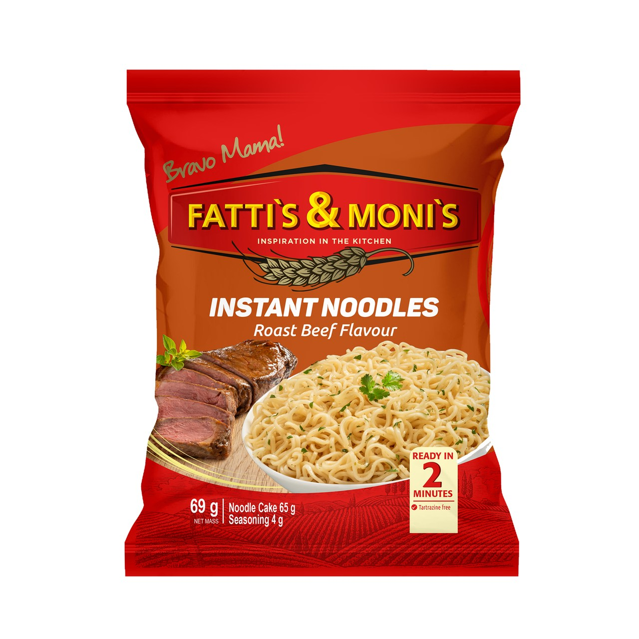 Fattis and Monis Instant Noodles Roast Beef